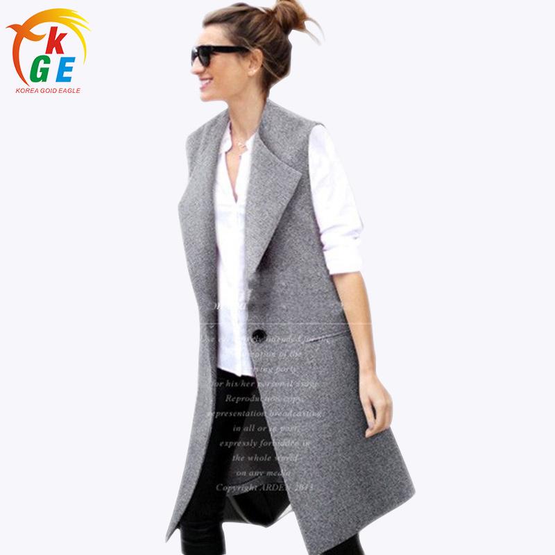 2015 осень женщин куртки жилеты жилет без рукавов куртка смеси хлопка женщин пиджаки одной кнопки H493
