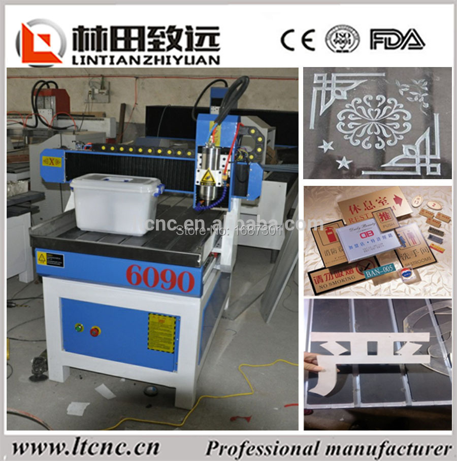 2D 3D cnc router for wood engraving with computer control box and dust collector LT-6090(China (Mainland))