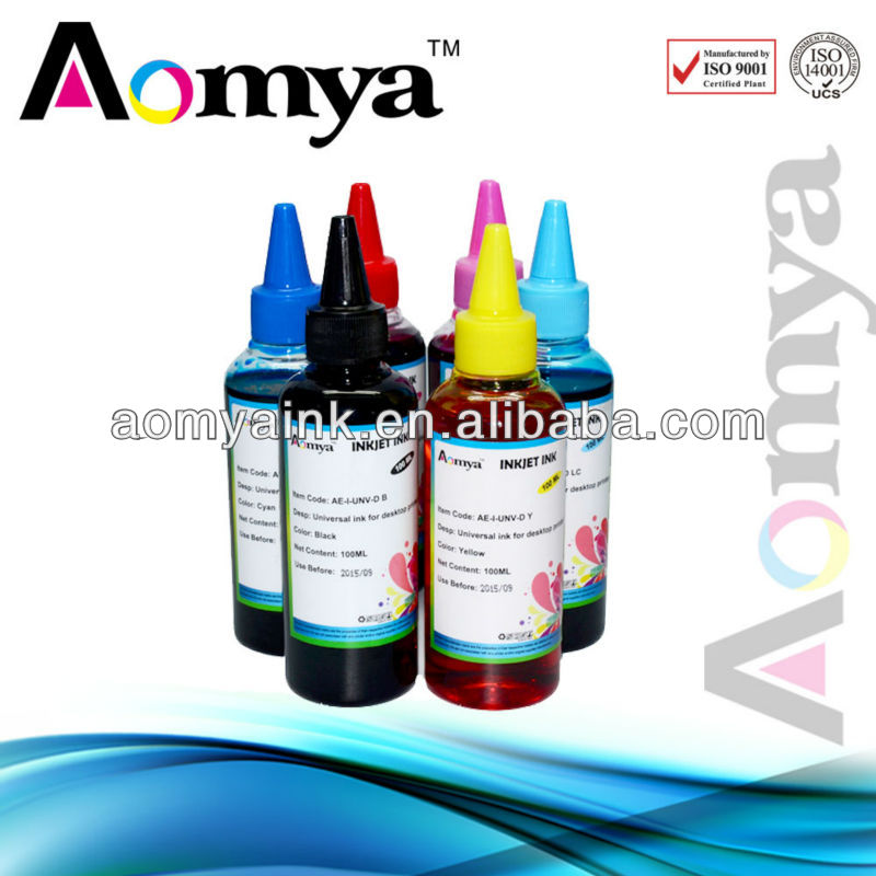 Free shipping! Aomya Heat transfer  Sublimation ink For Mutoh 1604/RJ900 Stylus printers print on mugs, pads, 6x100ml/color<br><br>Aliexpress