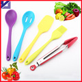 2015 Hot selling 5pcs set Fashion food grade Silicone Kitchen Utensil Set in Hygienic Solid Coating