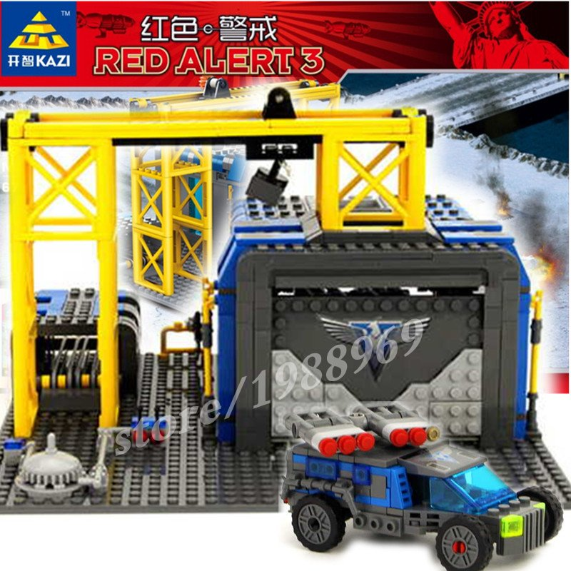678PCS 2016 New KAZI 81010 Red Alert 3 Series War Factory Assembled Kids Toys Gifts Building Blocks Sets Compatible Legoe(China (Mainland))