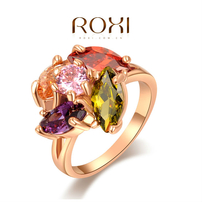 ROXI fashion new arrival, genuine Austrian crystal,Delicate Ms dinner Gold plated ring, Chrismas /Birthday gif 2010801490(China (Mainland))