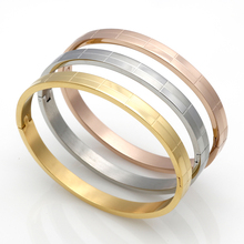 Fashion Tartan Cuff Bracelets For Women 18K Gold Bracelet Stainless Steel Bracelets & Bangles Men Jewelry wholesale