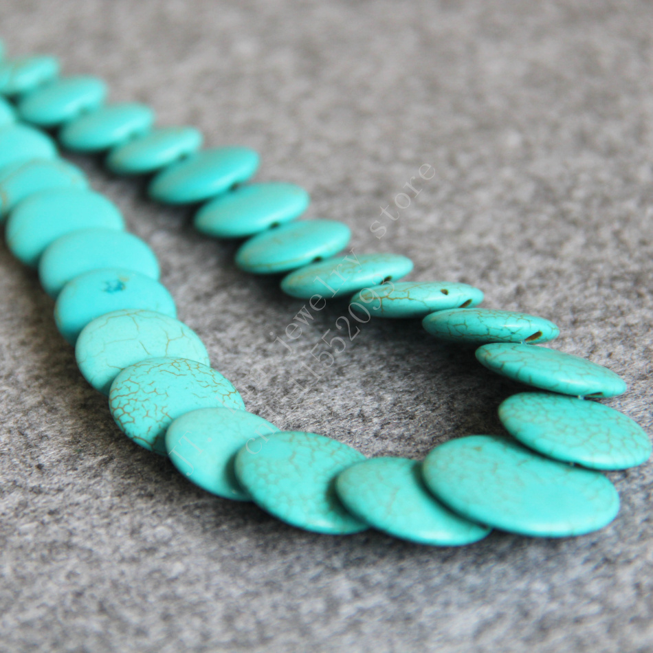T8286 New 8-20mm Blue Turkey Turquoise Coin beads Necklace,Fashion charming women jewelry wholesale FREE SHIPPING(China (Mainland))