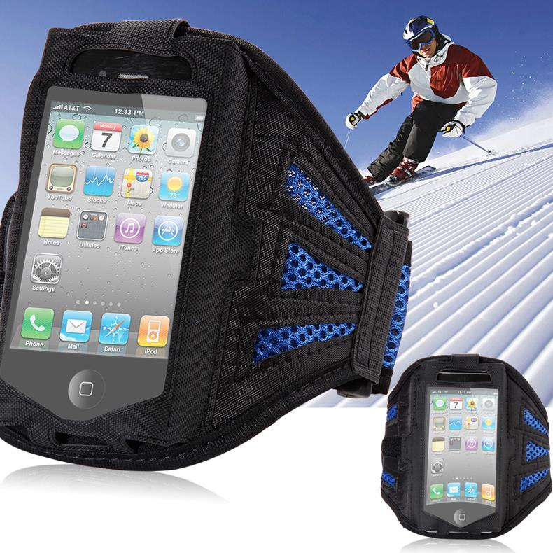4S Workout Arm Band Grid Pattern Pounch Belt Case For Apple iphone 4 4S 4G Sports Cell Mobile Phone Holder Bag Band GYM Fashion(China (Mainland))