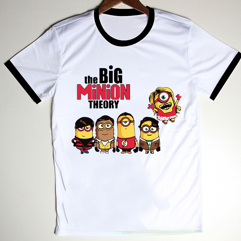 New arrival tops the big bang theory t shirt men camisetas minions cotton men s sport