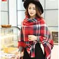 Brand Desigual Scarf Women Fashion Scarves Top quality Blankets Soft Cashmere Winter Scarf Warm Square Plaid