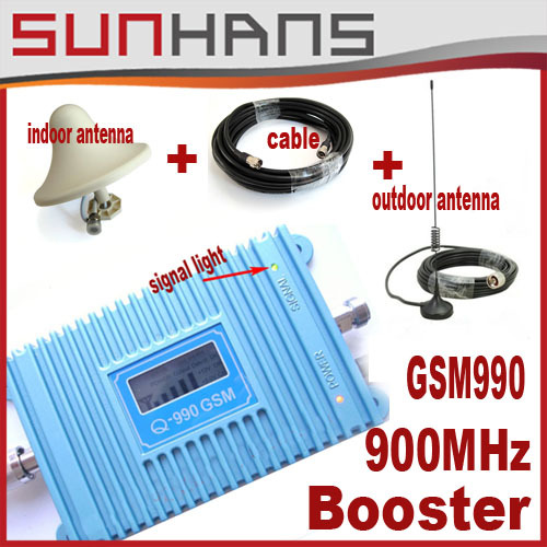 Direct Marketing Sunhans GSM signal booster 900Mhz Coverage 3500square Cell phone booster+indoor,outdoor antenna+10m cable 1lots(China (Mainland))