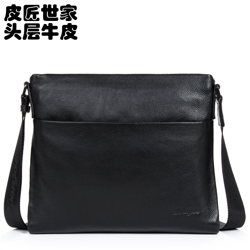 Soft Version Of The Cross Selling Men's Leather Shoulder Messenger Bag Computer Bages, Fashion Bag Men Leisure Bag(China (Mainland))