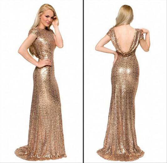 Gold Sequin Bridesmaids Dresses Modest Gold Sequin Bridesmaid