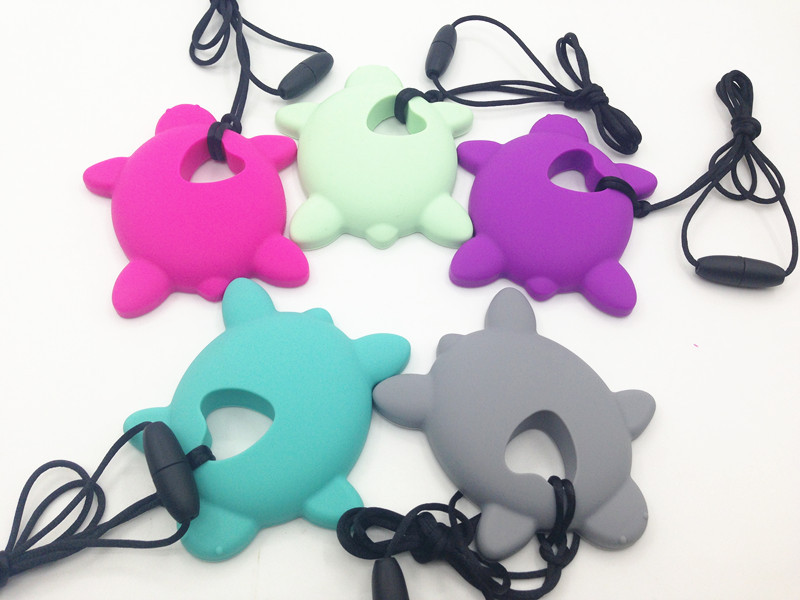 Silicone tortoise animal Teether BPA free silicone tortoise Teether pendant baby teether toy free shipping(China (Mainland))