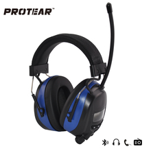 Protear NRR 25dB Hearing Protector For Hunting AM/FM Radio Earmuffs Electronic Ear Protection Bluetooth With lithium battery(China (Mainland))
