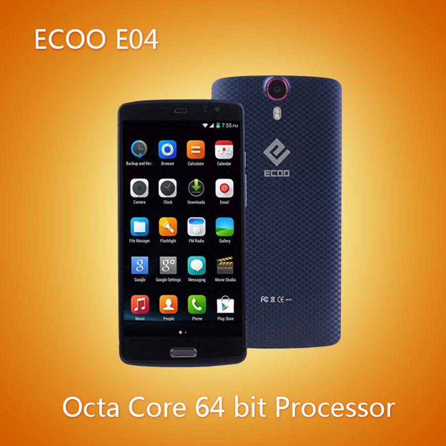 Мобильный телефон ECOO E04 MTK6752 Android 5.0 4G LTE 5.5 IPS 1920 * 1080 3 16 ROM 16.0mp e mu cd rom