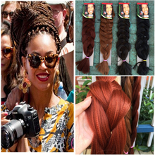 Braiding Hair 10PCS+Expression Braids African Ultra Braid 82″ 165G Synthetic Hair For Braids 17 Color Hair Free shipping