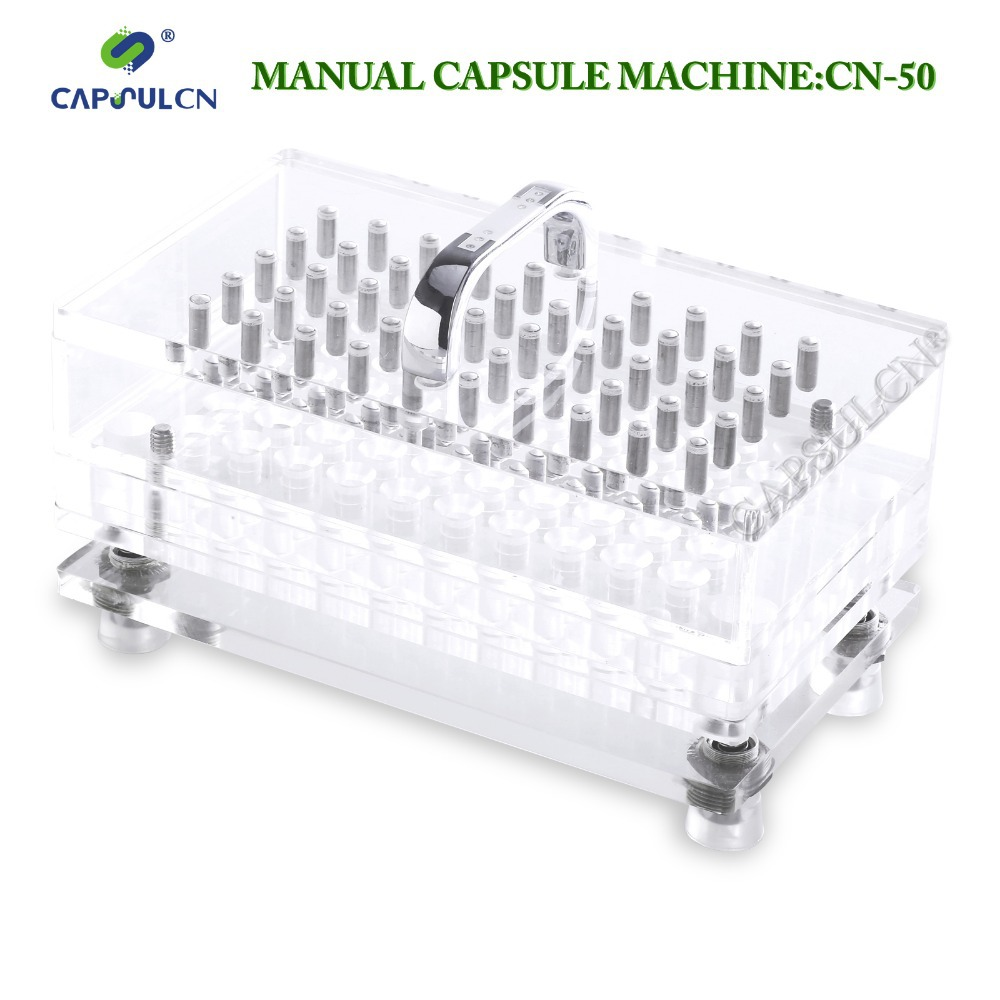 (50 holes) CN-50CL, easy washable version capsule filling machine/ capsule filler/ encapsulation, suitable for full capsule size(China (Mainland))