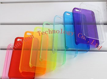 Soft Clear Case for iPhone 4  50PCS/LOT+Free shipping