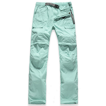 2015 New brand women Quick Dry hiking pants spring summer outdoor women Removable trekking pants Uv camping trousers shorts(China (Mainland))