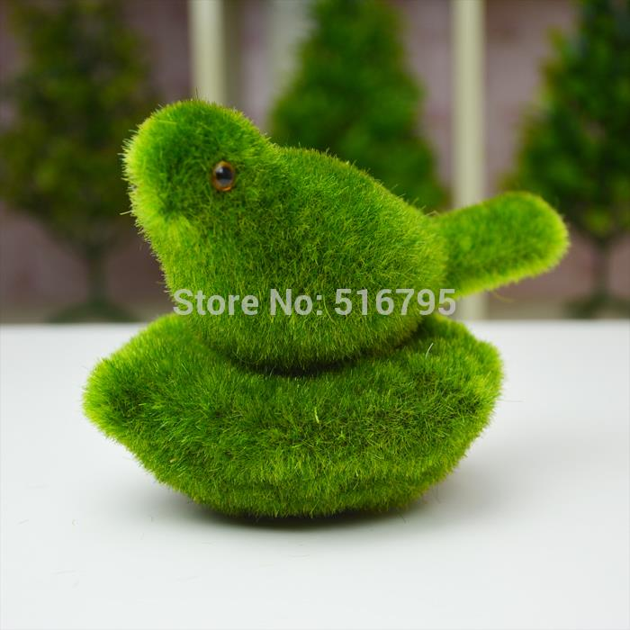 4x Lichen Nest Simulation Moss Animal Mini Bird Children Gift Home Garden Decoration Photography Props Artificial Turf(China (Mainland))