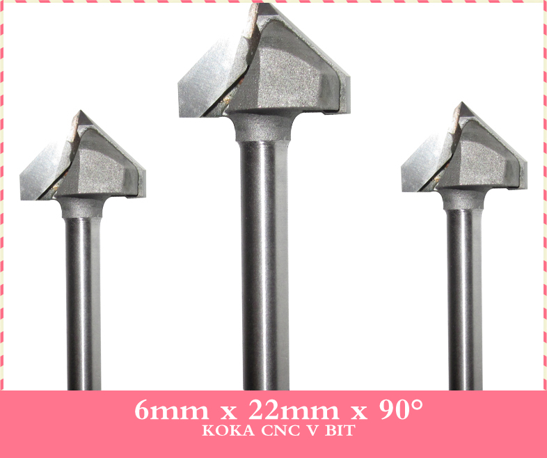 6mm*22mm*90Degree,CNC Tungsten steel V bit,CNC machine tool,PVC,MDF,Acrylic,Solid Carbide end mill,woodworking insert router bit(China (Mainland))