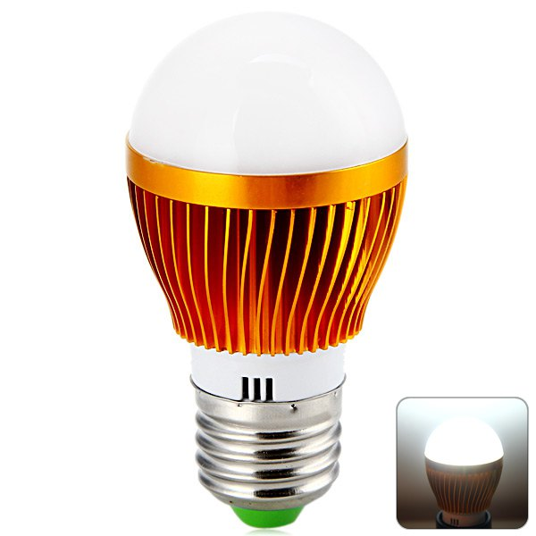 E27 3 LED Energy Saving Golden Bulb Light 6000-6500K 85 - 265V 3W 360LM LEDs Light Bulbs High Brightness for Commercial 1005495(China (Mainland))