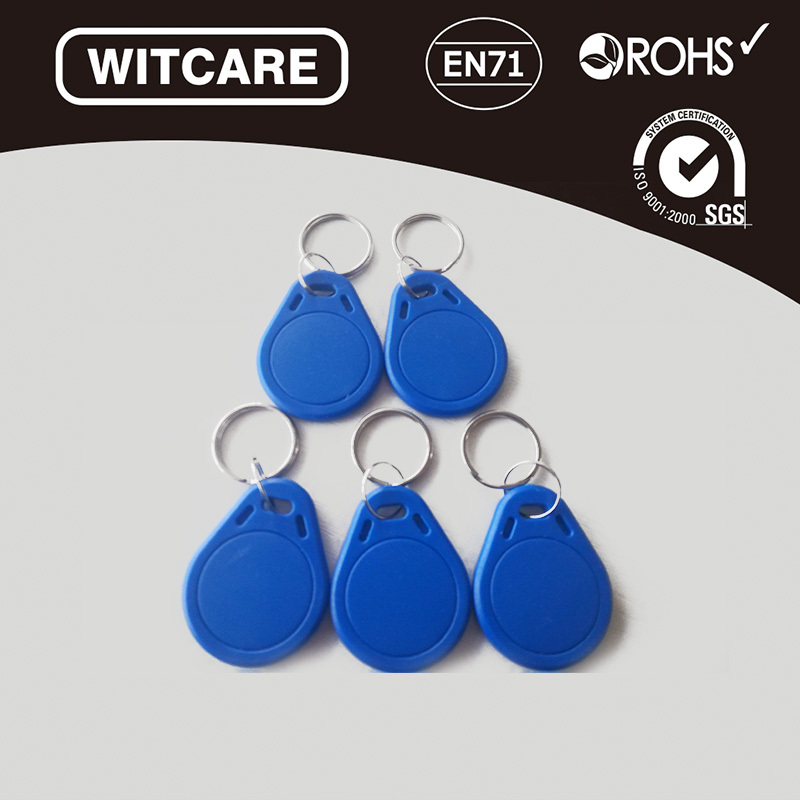 Free Shipping 5pcs/lot 13.56MHz RFID IC Key Tags Keyfobs Blue Color Token NFC TAG Keychain For Arduino<br><br>Aliexpress