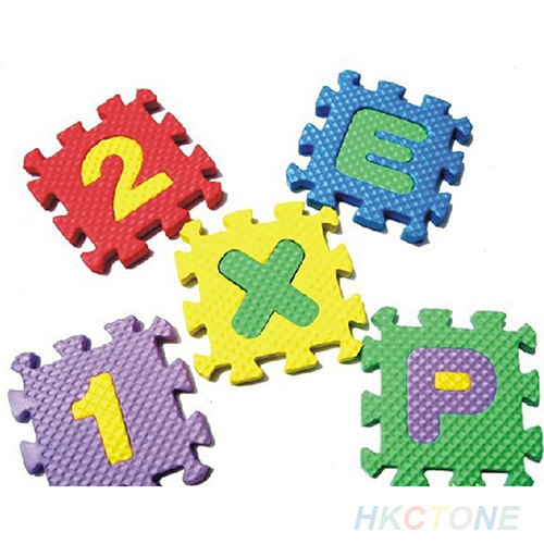 36x Baby Child Kids Novelty Alphabet Number EVA Puzzle Foam Teaching Tools Toy Mats  1PX4 2K5A(China (Mainland))