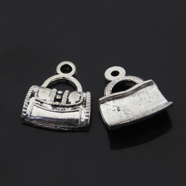Free Shipping 40pcs/lot Tote bags for Women 15x12mm Antique silver bronze Zinc Alloy Charm DIY Retro Jewelry Accessories(China (Mainland))