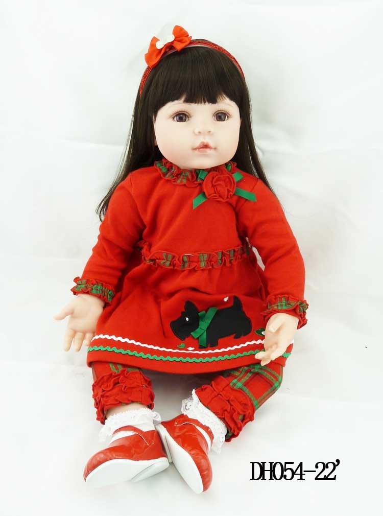 New 55cm silicone vinyl reborn baby dolls accompany lifelike newborn toddler reborn doll kid christmas new year boutique gifts<br><br>Aliexpress