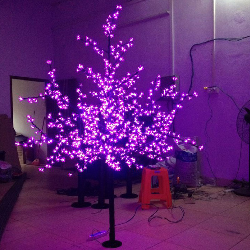 1.8Meters 864LEDS purple holiday led cherry blossom tree light christmas decoration for Europ free shipping(China (Mainland))