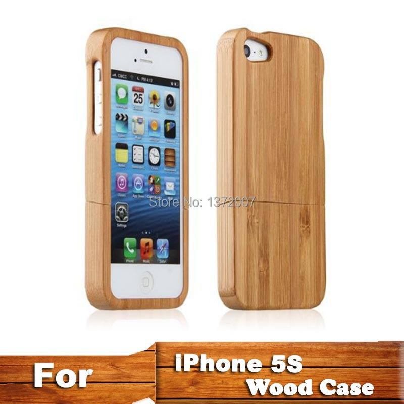 Arrvail Fashion Carbonized Bamboo Wood Shell Cover Wooden Case Natural Back iphone 5 5s - Shop1372007 Store store