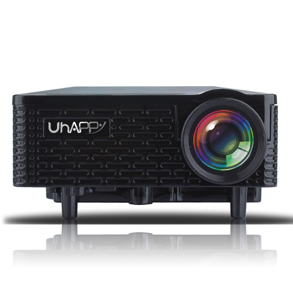 New uhappy u18 home theater mini led projector with remote for Iphone mini projector reviews