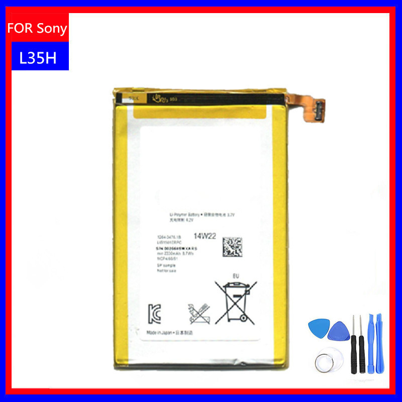 New Original Battery For Sony Ericsson Xperia ZL L35H L35i C6502 C6503 C6506 Batterie 2330mAh 3.7V Li-Ion phones battery +tools