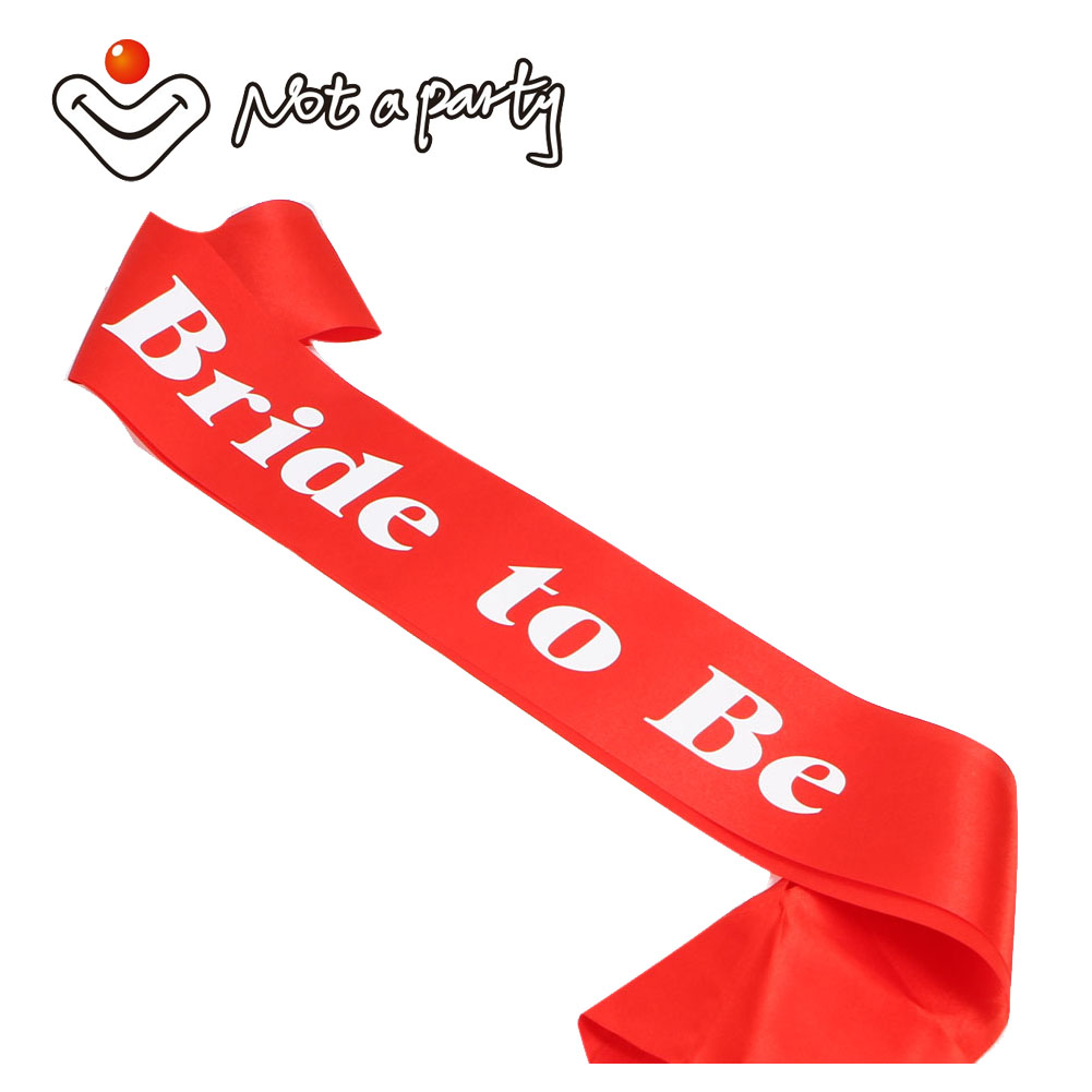 12pcs of Red wedding event mariage sash white printing favor hens party event supplies bachelorette fun party bride to be gift(China (Mainland))