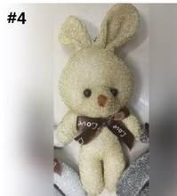 50 pçs/lote 5 Cor 12 centímetros Conjunta Lantejoulas Urso de Pelúcia Brinquedos de Pelúcia, keychain/Saco de Mulher/Telefone Pingente Boneca Urso Brinquedos(China)