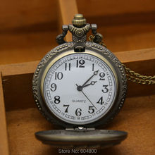 Antique Bronze Big Playing Cards Pocket Watch Hand Cards Large Vintage Pocket Watch With Chain Reloj