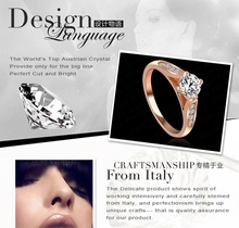 Promotion Real Platinum Golden Plated Ring Genuine SWA Stellux Austrian Crystal Luxury Rings Women Jewelry Ri