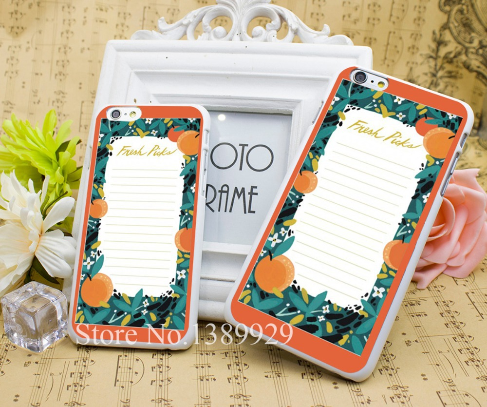 Fresh Picks Market Phone Cases Series Case Cover for iPhone 6 6s 6 plus 4s 5s Hard White Plastic Print Back(China (Mainland))
