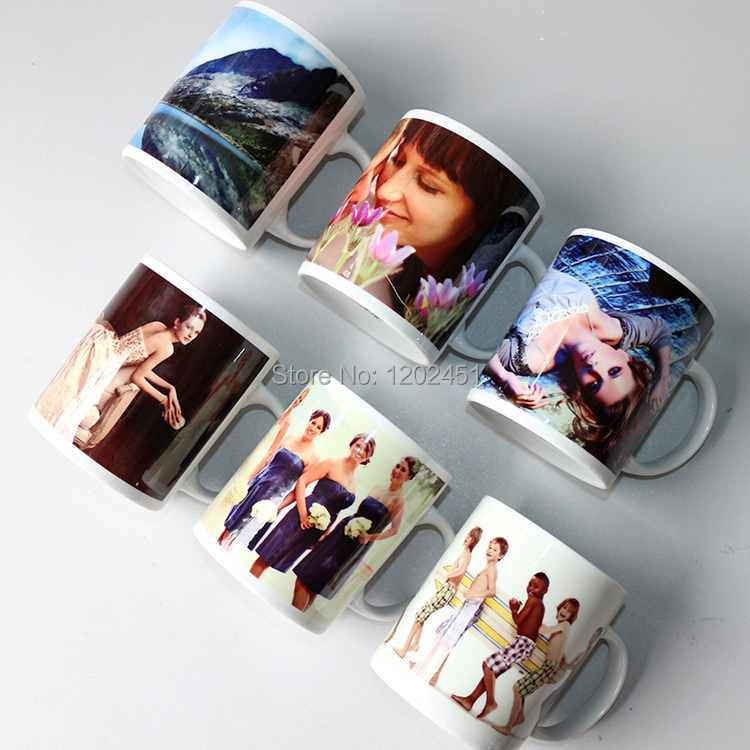11oz ceramic Sublimation Mug,white blanks coated mug,photo mug wholesale, personalized Mugs(China (Mainland))