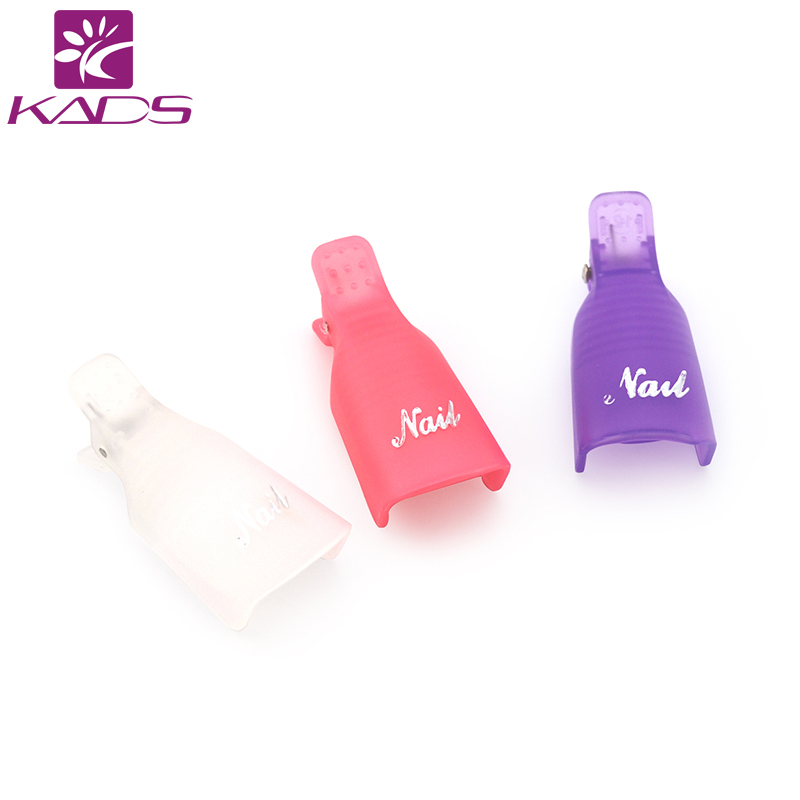 KADS 10pcs/set Without Package Plastic Nail Tool Acrylic Nail Art Soak Off UV Gel Nail Polish Remover Wrap Clip Cap Nail Product(China (Mainland))