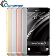 Original Samsung Galaxy C7 mobile phone Android6.0 4GB RAM 32/64GB ROM 16MP Camera 5.7 inch Smart Cell Phone(China (Mainland))