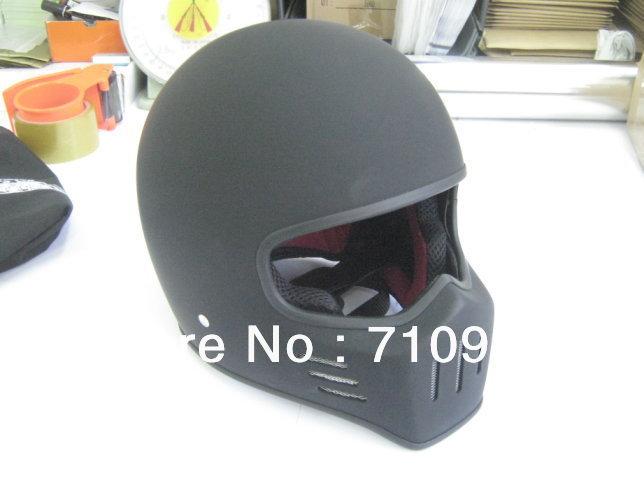 Genuine Japan TT ATV Carting Full Face Dirt Bike Motorcycle Helmet Matte Black with black buckle(China (Mainland))