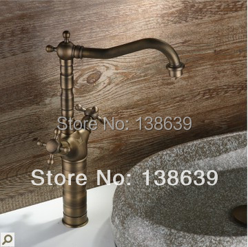 Здесь можно купить  Free shipping morden brass hot and cold kitchen faucet 2 handles,kitchen sink mixer taps,faucet bathroom with high quality  Дом и Сад
