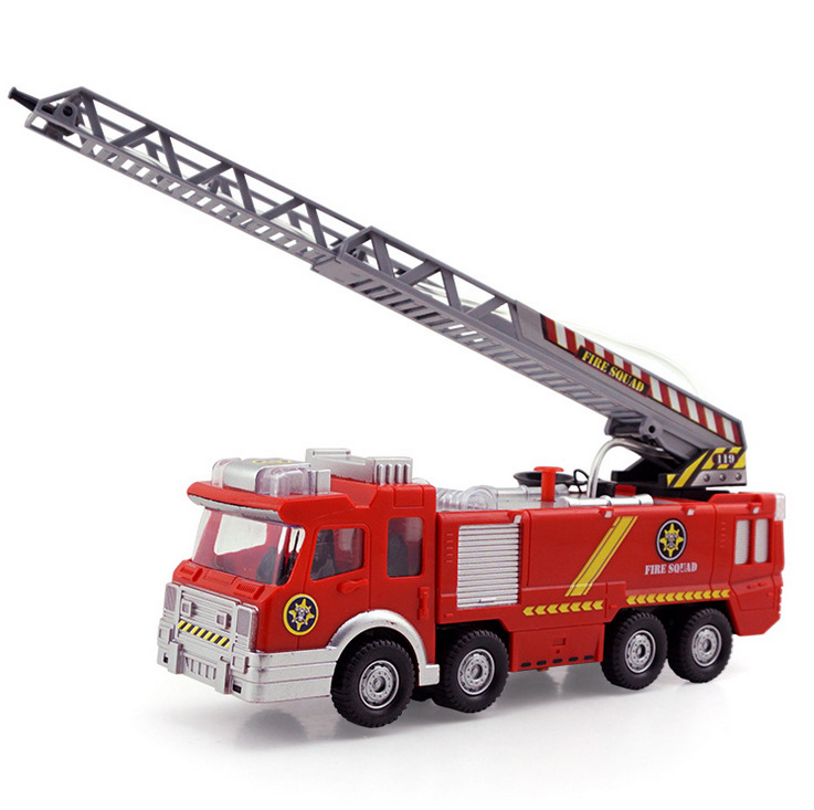 Retail Electric Fire Truck Water Spray Car Sam Fire Fighting Truck SHD-1078 for children gifts(China (Mainland))