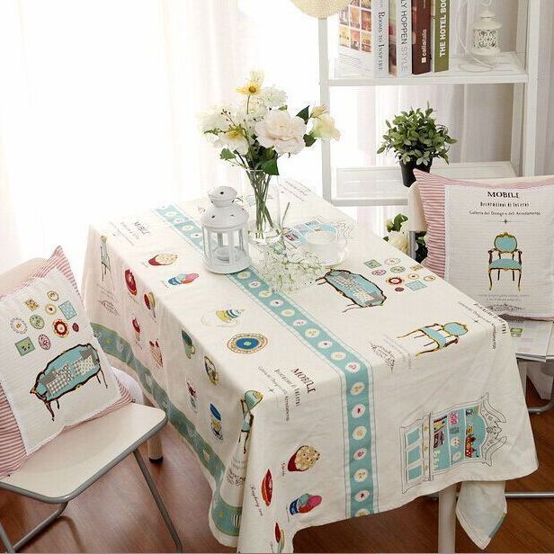 new specials Paris Eiffel Tower design printed cotton and linen cloth Europe type style cotton and linen sheet table cloths(China (Mainland))
