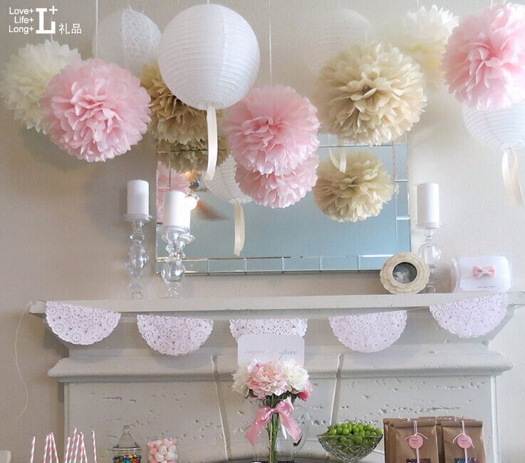 Hot Seller 5pcs Lot Of 20 Inches Tissue Poms Paper Flower Balls DIY Kits For Holiday
