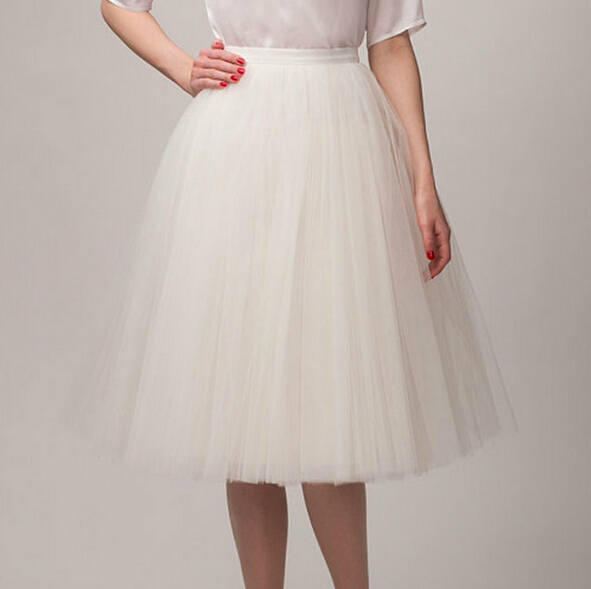 Tulle Skirts Women Midi Ball Gown Skirt Perform Clothing Elastic Waist One Size Fits AllОдежда и ак�е��уары<br><br><br>Aliexpress