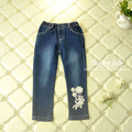 Aamina Flowers Lolita style jeans for girls wholesale girls clothes new spring autumn children clothing