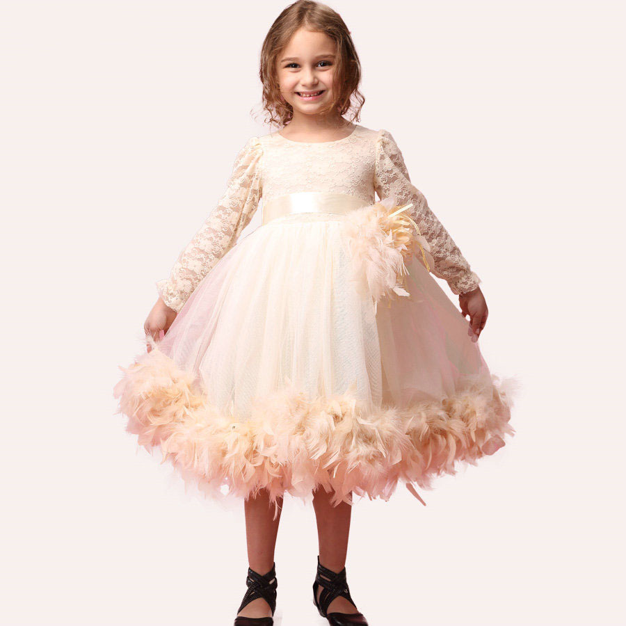 designer kids wear cute baby party frocks rustic flower girl dresses(China (Mainland))