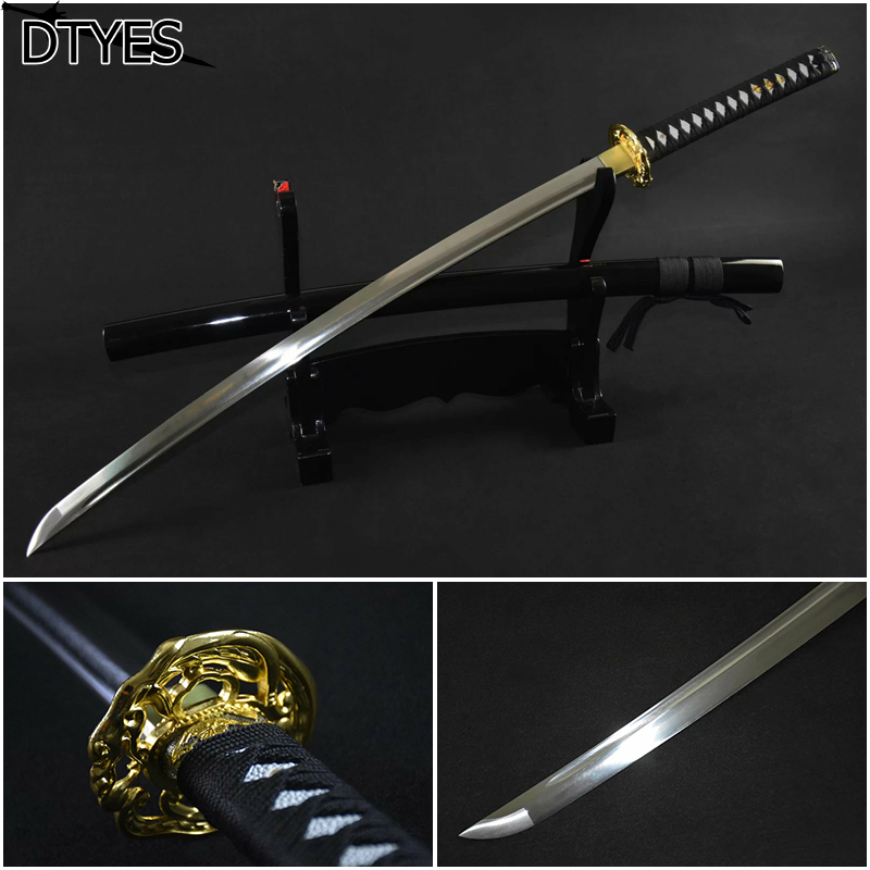 Japanisches Katana Schwert Katana 1095 High Carbon Steel Samurai Sword Handmade Katana Afiada Espada Samurai(China (Mainland))