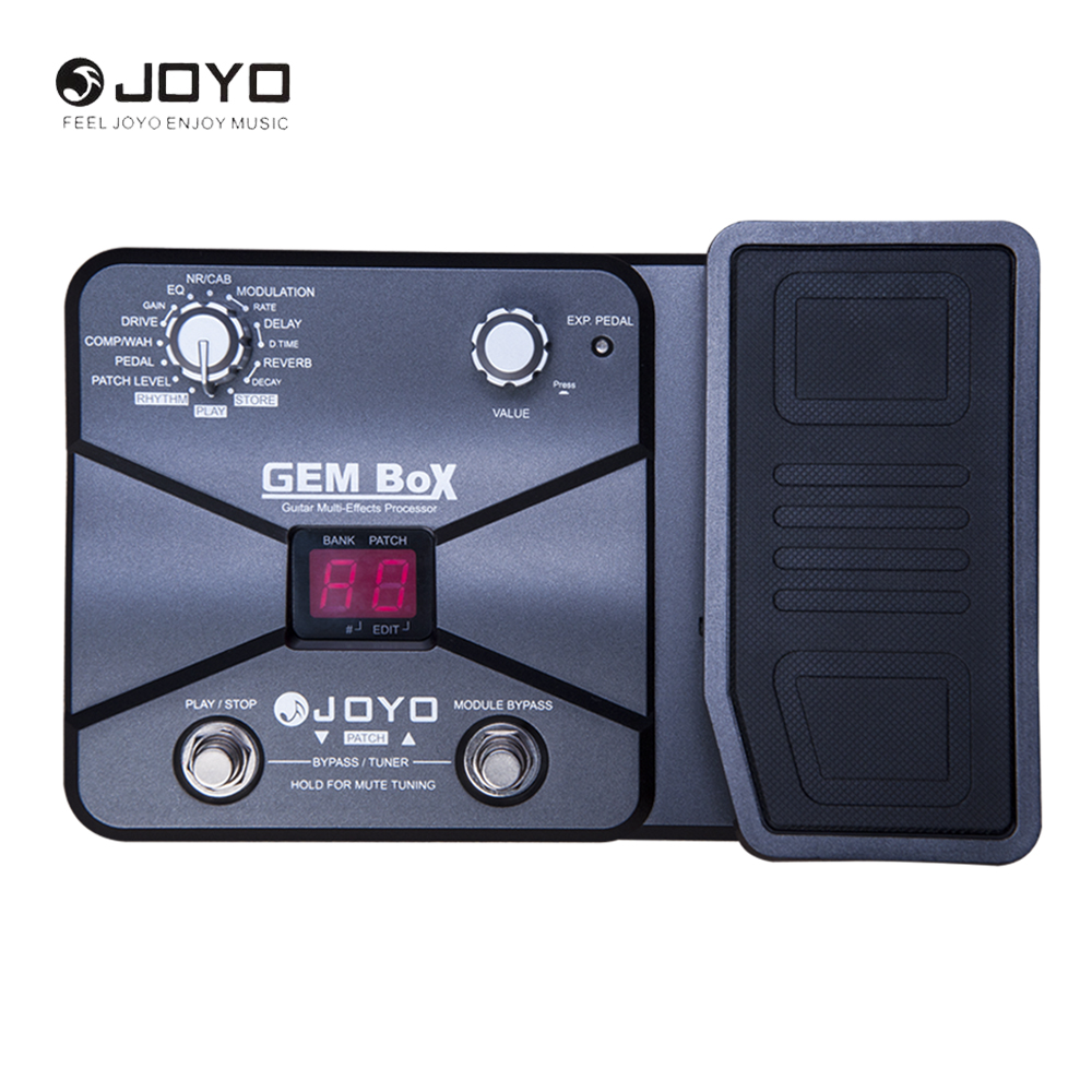 JOYO Guitar Multi-Effects Processor 60 Effects 8 Simultaneous 40 Drum Rhythm Assignable Expression Pedal GEM BOX